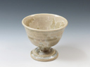 photo Japanese pottery sake cup (Oborisoma-Yaki)