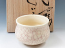 photo Japanese pottery sake cup (Noketsu-Yaki)