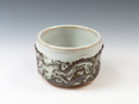photo Japanese pottery sake cup (Kokuji-Yaki)